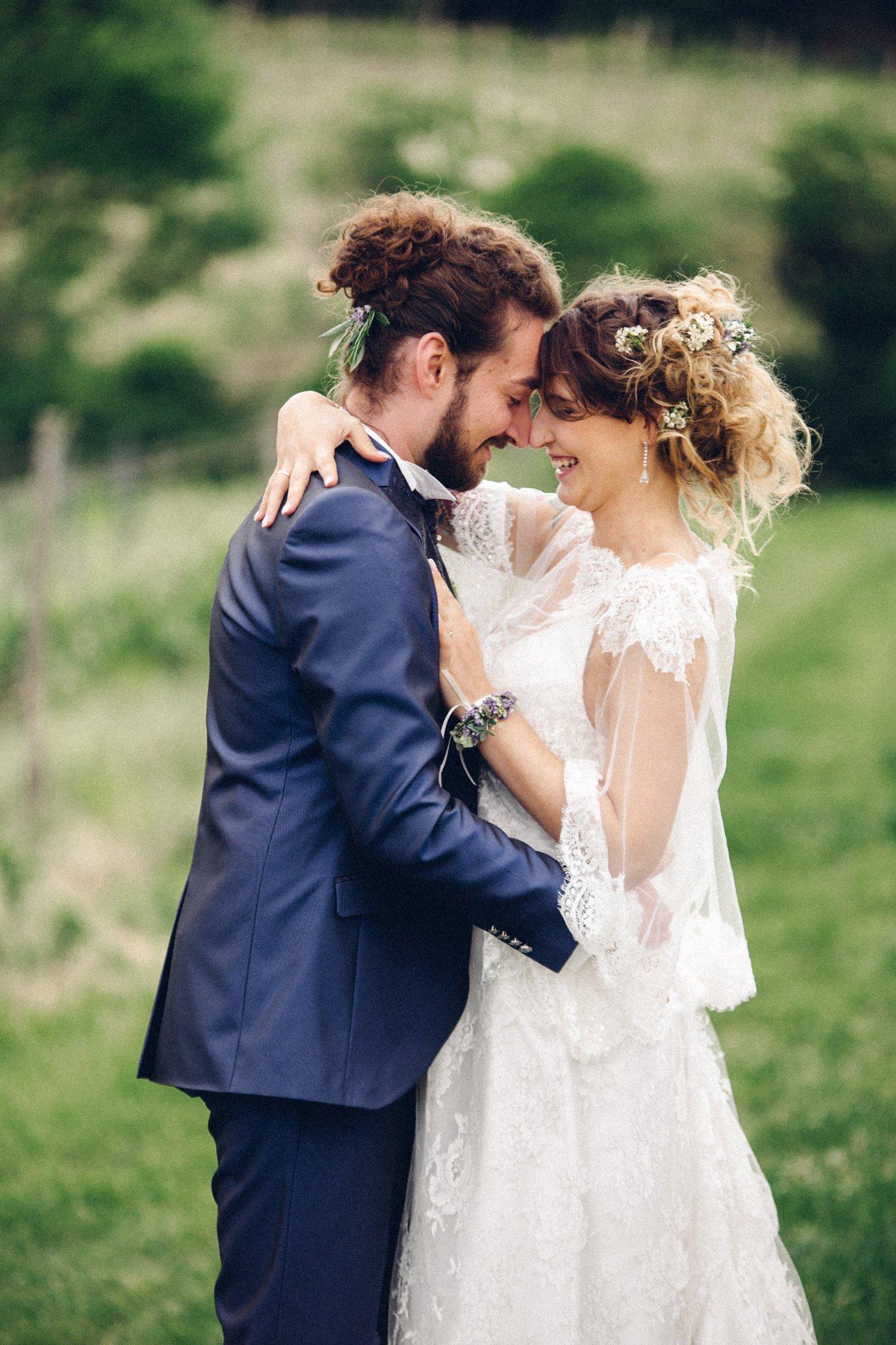 Haarschmuck und Florale Armbänder